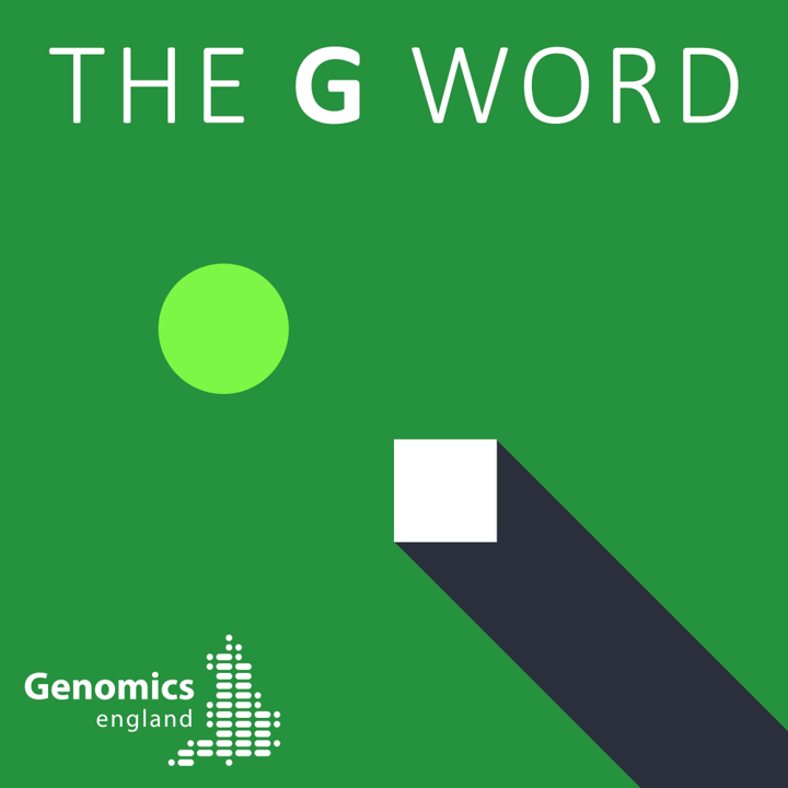 The G word podcast logo from Genomics England